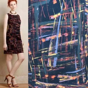 Anthropologie Tabitha Expressionist Sheath Dress